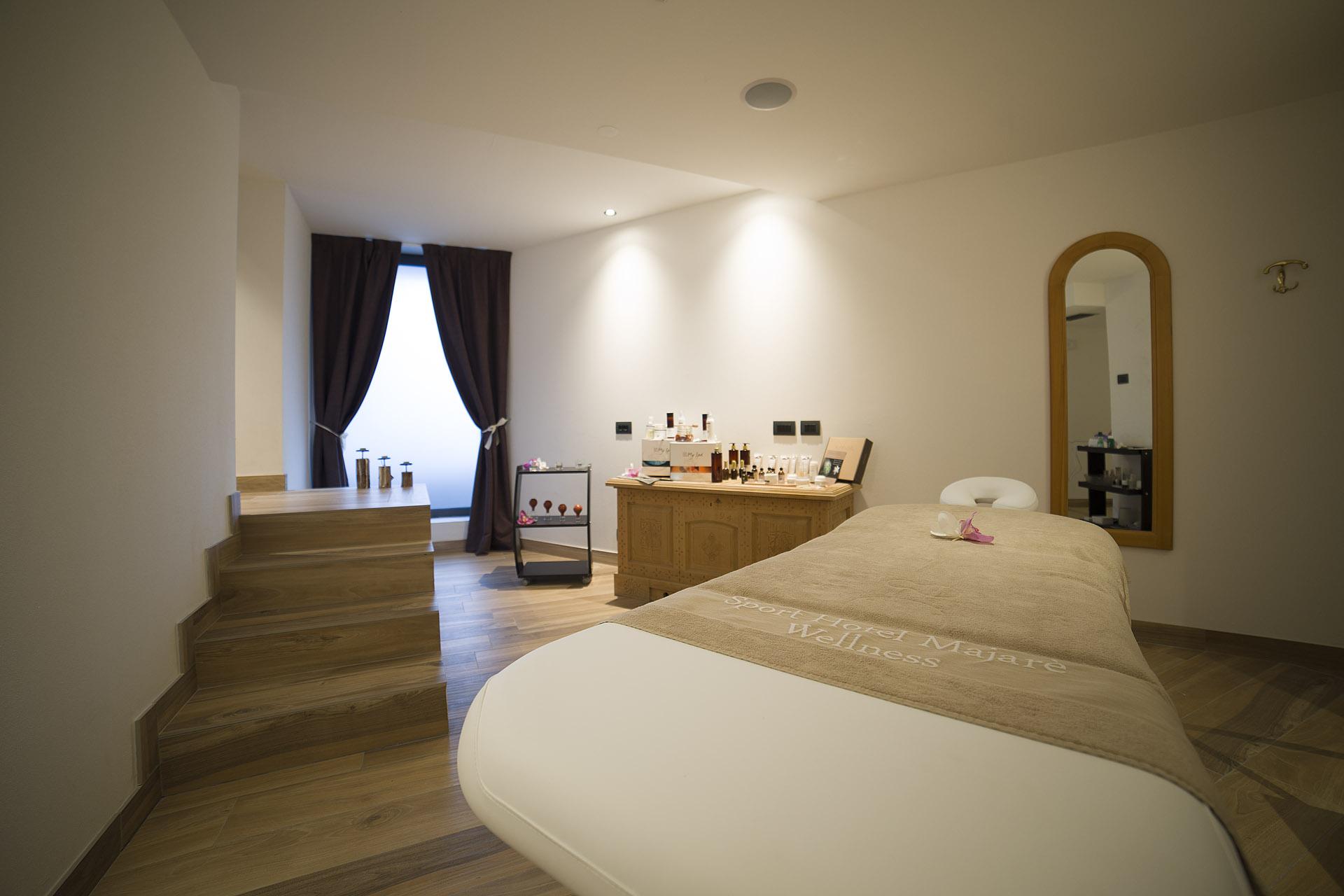AREA TRATTAMENTI BEAUTY<br /> HOTEL MAJARE' - POZZA DI FASSA